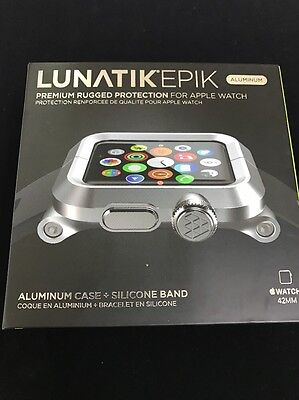 LUNATIK EPIK Case and Band for Apple Watch 42mm EPIK-008 - Silver/Black