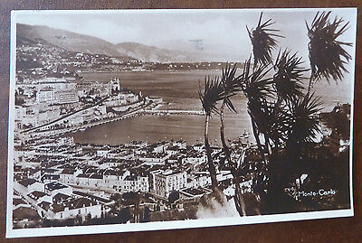 Vintage Real Photo Postcard, Monte Carlo, General View, Posted 1939