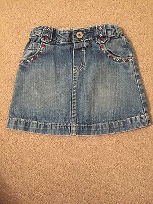 Girls Denim Skirt Age 2-3y From Marks And Spencer
