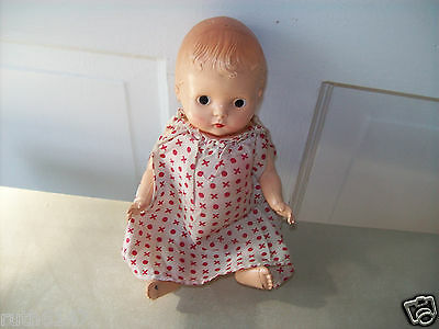 """Vintage Hard  Molded Plastic Doll  Jointed  Arms & Legs 8"""" Tall"""