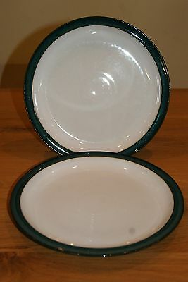 """Two Denby Greenwich 10.25"""" dinner plates. Two pairs available"""
