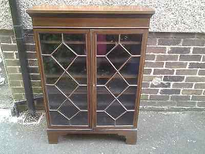 Antique Edwardian Inlaid Mahogany  Narrow Bookcase with Variable shelving rack