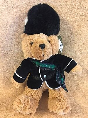 "Harrods Piper Bear Stuffed Plush 14"" W/ Tags Free Shipping.                    D"