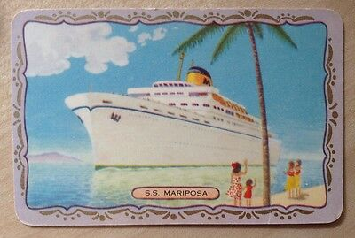 playing cards swap 1 x COLES Card - Named. S.S Mariposa. Ship