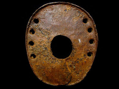 EXTREMELY RARE, HUGE ROMAN PERIOD Ribbed IRON HORSE SHOE, TOP QUALITY+