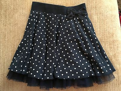 Navy with white spots tulle skirt, size 5 years