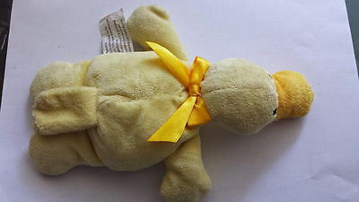Flatopus platypus soft yellow rattle plush toy 6214 2010 North American Bear Co