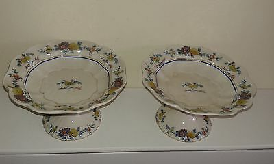 Antique Booths china - 2 matching Jacobean Tazzas ( comports)