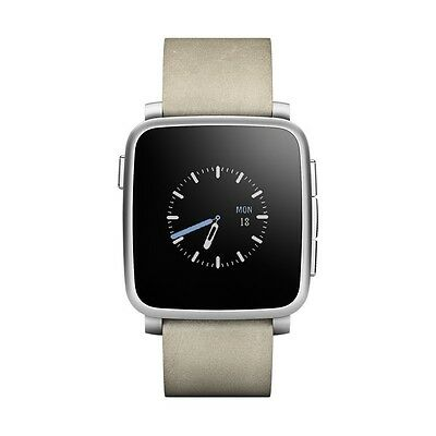 Pebble Smartwatch Time Steel Silver