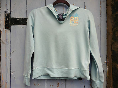Girls Hoody GAP age 12 Turquoise Cotton Great Condition
