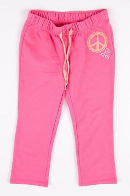 Old Navy Kids Girls Peace Heart Pink Solid Warm Athletic Sweat Pants S 6/7 Euc