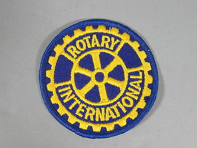 Rotary International Patch / New Old Stock of Closed Embroidery Co / FREE Ship