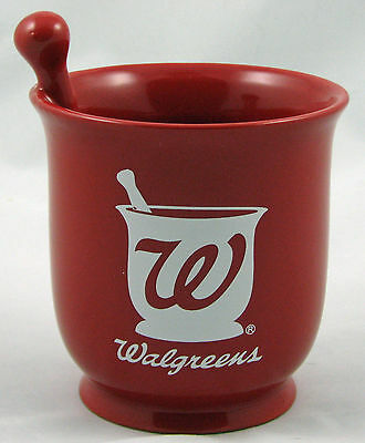 Walgreens Pharmacy Mortar and Pestle Advertising Cup, Pencil Holder