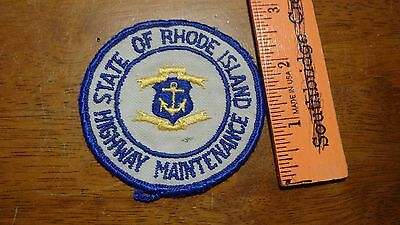 Vintage State Of Rhode Island Highway Maintenance Patch    Bx A #47