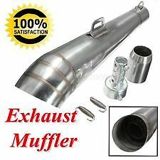 Motorbike Stainless Steel Exhaust muffler Motorcycle 38-51mm Silencer Pipe bike