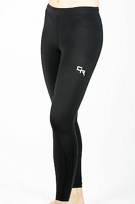 Womens Black BaseLayer Compression Tights Full Length Pants Ladies Running New