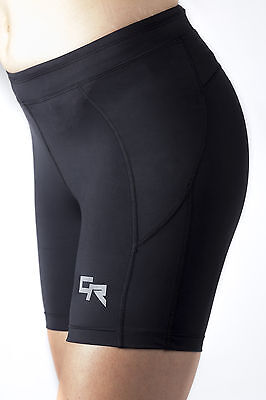 Womens Black BaseLayer Compression Shorts Ladies Running Cycling Comfort New