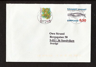 Sabd 314 Greenland 1997 Cover Whales Orchids To Sweden