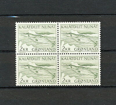 Sabd 543 Greenland 1975 Mnh Block Of 4 Whale Slania