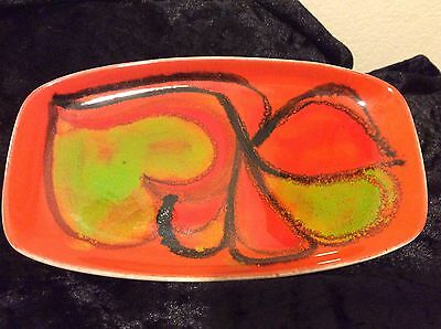 Poole Delphis Dish Painter Andree Fontana: Psychedelic And Retro