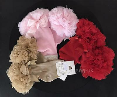 STUNNING BABY GIRL Knee High TUTU SOCKS/COUCHE TOT/PERFECT FOR XMAS GIFT