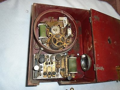 Vintage Fire alarm telegraph box. Fire and police alarm box. Vintage fire alarm