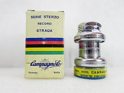 Vintage ☆NOS☆ CAMPAGNOLO 1039 RECORD STRADA 25,4x24F HEADSET,Mint & Boxed
