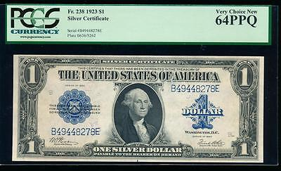 AC Fr 238 1923 $1 Silver Certificate PCGS 64 PPQ UNCIRCULATED