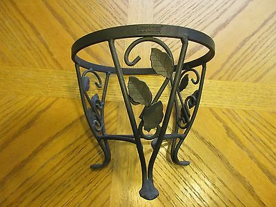 Longaberger's Black Wrought Iron Plant Stand - Small