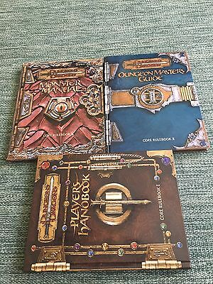 Lot Of 3 Dungeon & Dragons Players Handbooks Core Rulebook 1 2 and 3