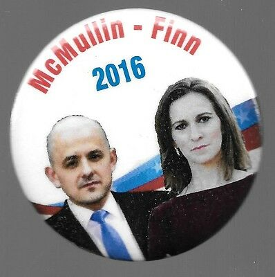 McMULLIN AND FINN THIRD PARTY 2016 POLITICAL CAMPAIGN PIN