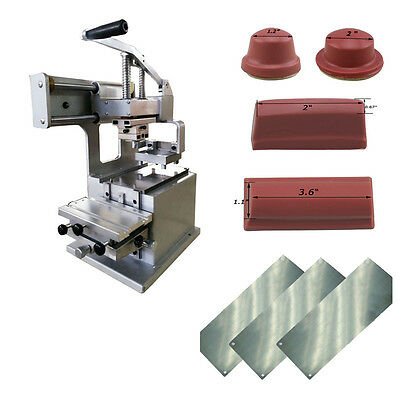 Pad Printing Printer With 4 Rubber Head and 3 Thin Steel Plate DIY Pen/Ball LOGO