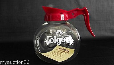 Folgers Coffee Pot Commercial Glass Carafe Decanter SCHOTT 4911 Mountain Grown