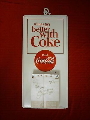 Coca Cola Sign..calendar..vintage 1968..near Mint..rare..with Full Pad Near Nos