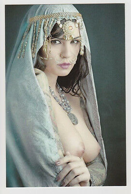 Postcard Nude Risque Sexy Girl Topless Breast Gorgeous Arab Woman Post Card 1179