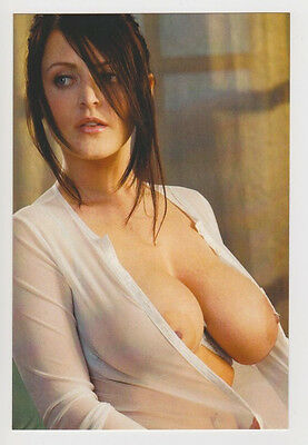 Postcard Nude Sexy Girl Pinup Topless Breast Busty Woman Lovely Post Card 5097