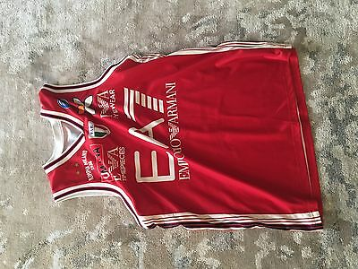 Rare FIBA Euroleague Official Jersey Olimpia Milano EA7 Size XL