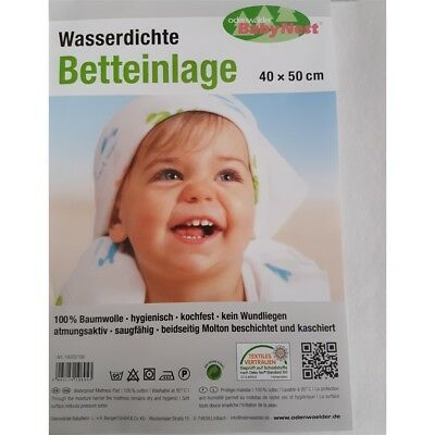 Odenwälder Waterproof Bed Pad 40/50 cm white 10020 - New
