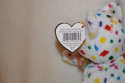 Ty Beanie Baby Ty 2K Bear Incorrect dates and Colors #103#