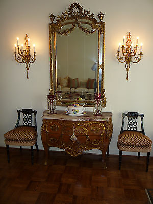 Pair of Antique Louis XV Style Gilded Wall Sconces