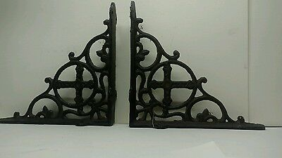ARCHITECTURAL SALVAGE Cast Metal CORNER BRACKET Antique Cross