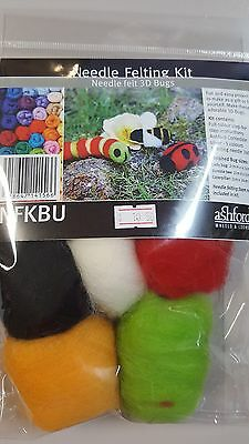 Ashford Needle Felting Kit 3D Bugs - Includes Felting Needle & Wool NFKBU