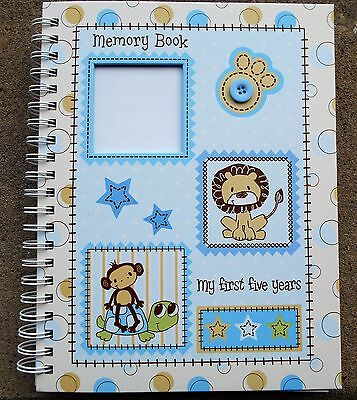 Baby Essentials My  First Five Years Memory Book - Boy/Blues - 30 Pages!