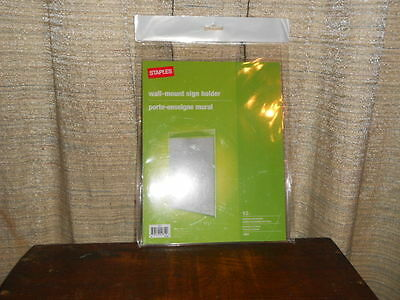 """Staples Clear Acrylic 8 1/2"""" x 11"""" Wall Mount Sign or Picture Holders"""