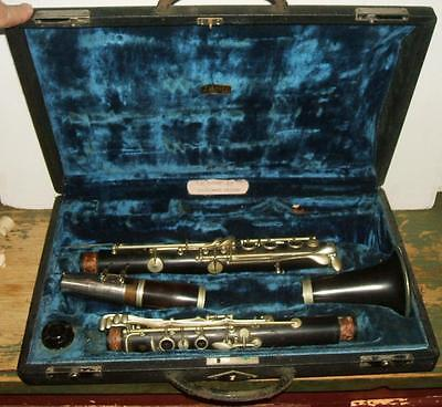 Early 1900's H. Bettoney Wood Clarinet with Selmer Case & Parts