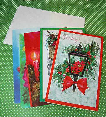 Lot of 9 Vintage Christmas Cards Mixed 1960-70's by Fantusy Clean Nice T39