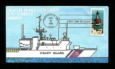Sc. 2473 25c American Shoals Lighthouse FDC - Byrnes