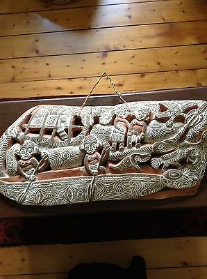 Papua New Guinea Carved Wood Storyboard