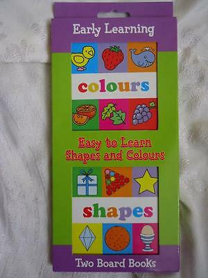 2 Baby's Board Books Boxed Set- Colours/shapes - Brand New