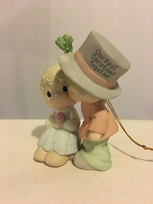 Precious Moments Our First Christmas Together 2001 Ornament Couple Love 878855